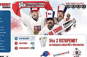 Microsite for Hockey World Championship 2010