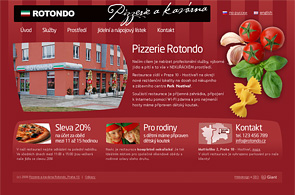 Screenshot of presentation pizzeria Rotondo