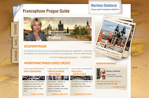 Screenshot of presentation Prague Guide